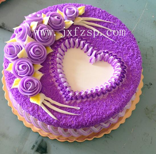 仿真食品模型:心形生日蛋糕模型仿真蛋糕食品模型